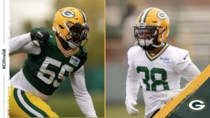 Packers elevate LB De'Jon Harris and RB Mike...