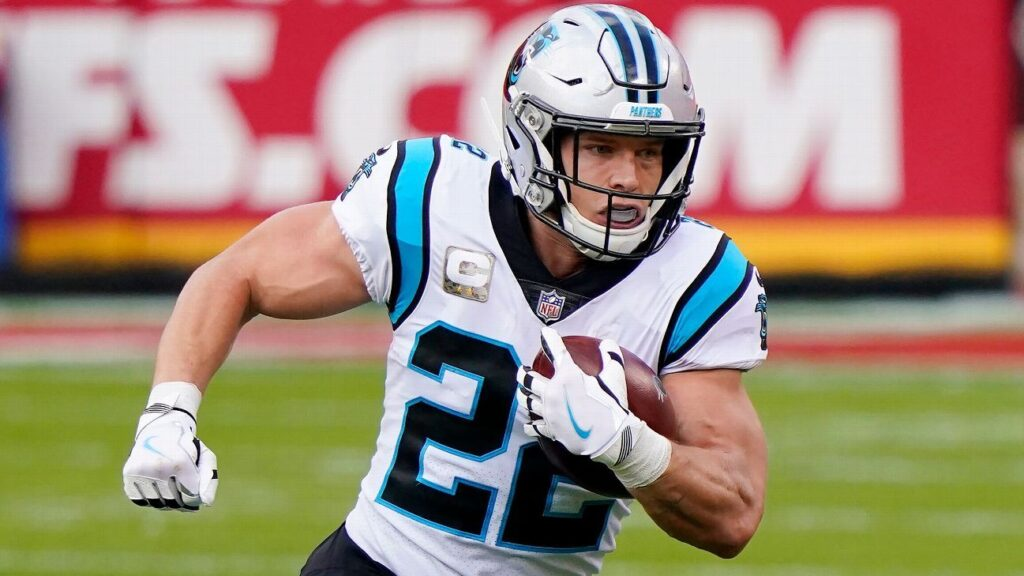 Christian McCaffrey scores on first drive back...