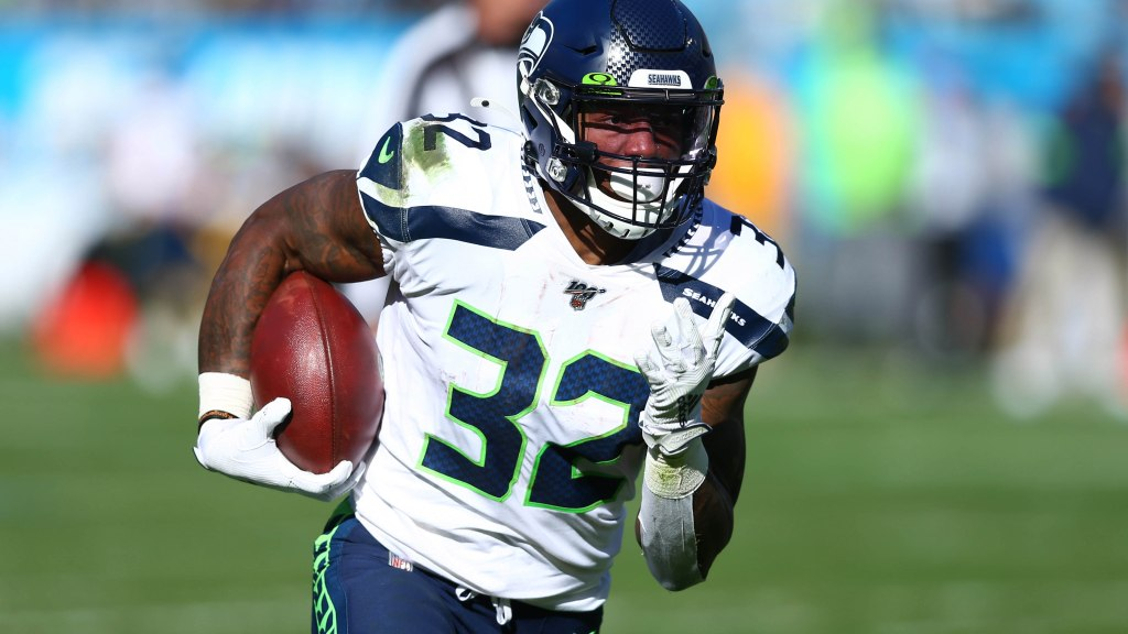 Seahawks running back Chris Carson should be...