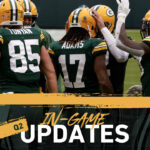 Packers and Vikings tied at 14 at halftime
