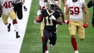 Deonte Harris out for Saints on Sunday
