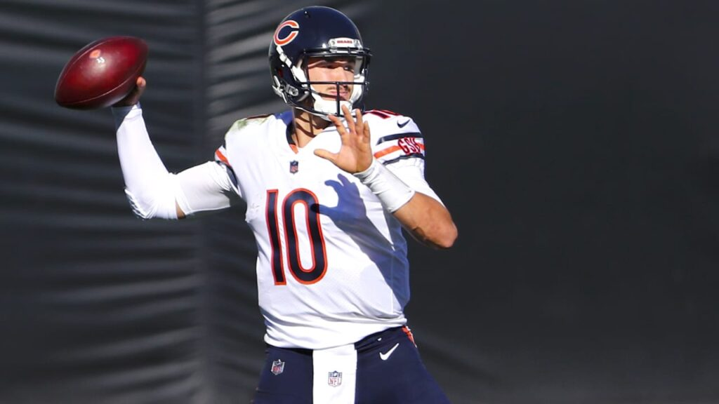 Chicago Bears QB Mitchell Trubisky lauded by head...