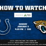 How to Watch Jaguars @ Colts