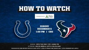 How to Watch Colts @ Texans