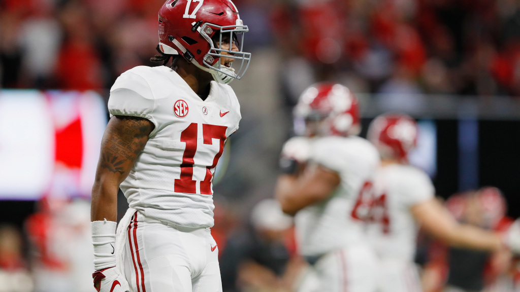 New York Giants select Jaylen Waddle in most...