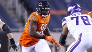 Chicago Bears DT Bilal Nichols stepped up in a big...