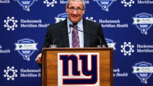 Giants' Dave Gettleman holds year-end press...