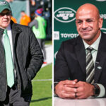 Robert Saleh meets returning Jets boss Woody...