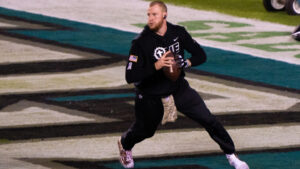Carson Wentz arrives in Indianapolis for first...