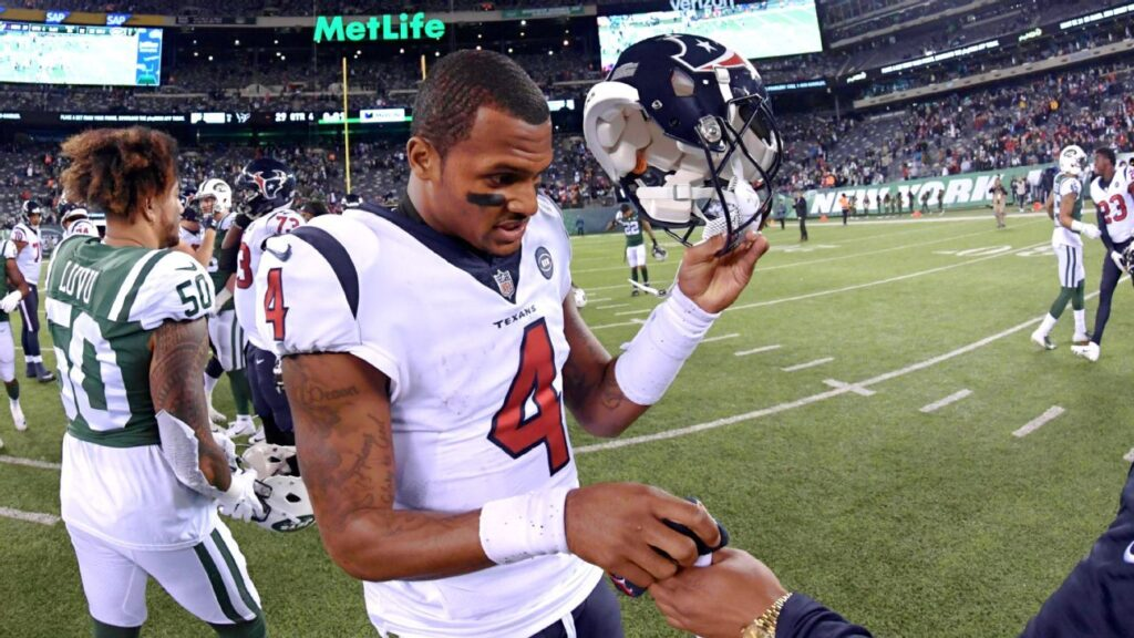 Texans' Deshaun Watson with New York Jets? 'Oh, my...
