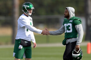 Sam Darnold hears Jets trade chatter