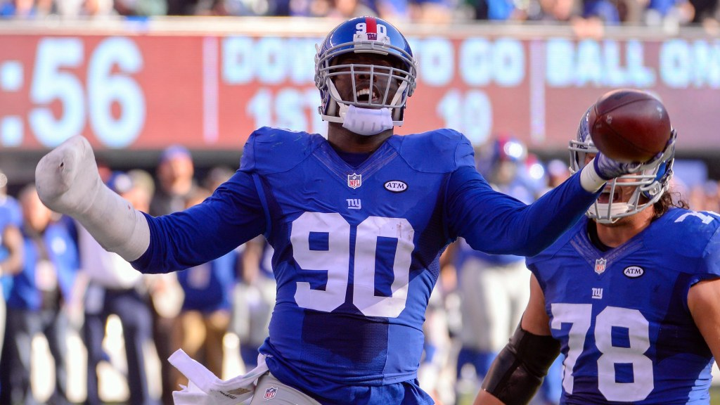 New York Giants discovered Jason Pierre-Paul by...