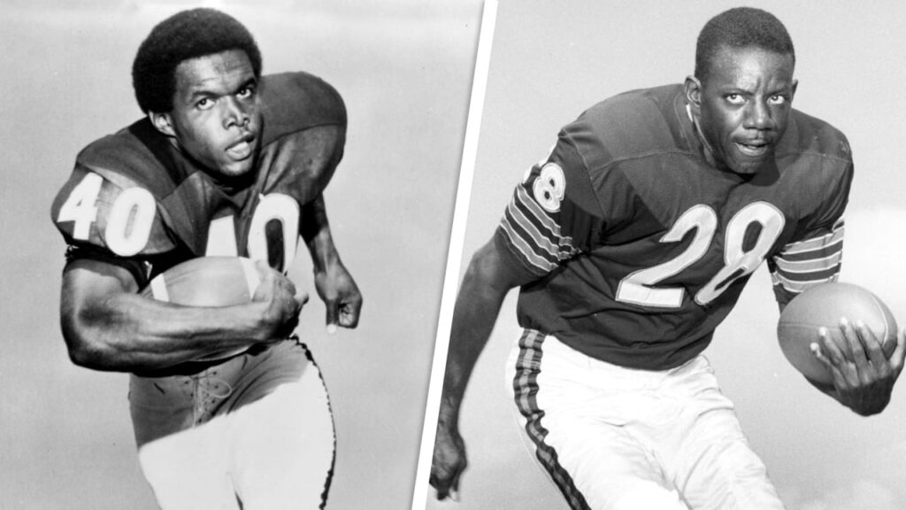 Former Chicago Bears RBs Gale Sayers, Willie...