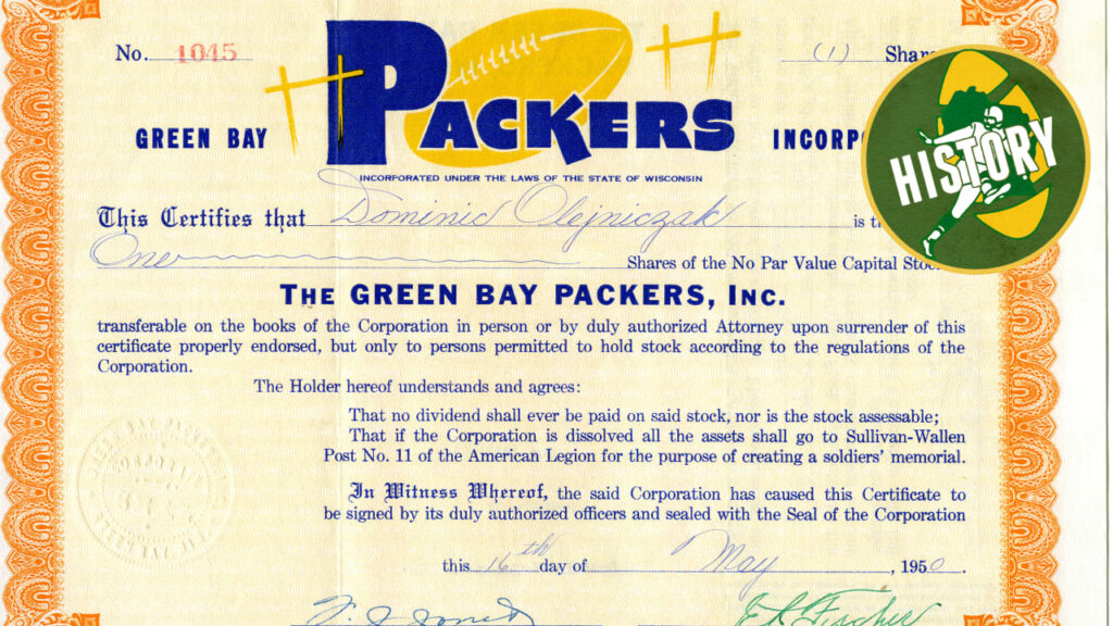Yes, Packers sold shares of stock from 1950 drive...