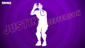 Justin Jefferson & The Griddy in Fortnite