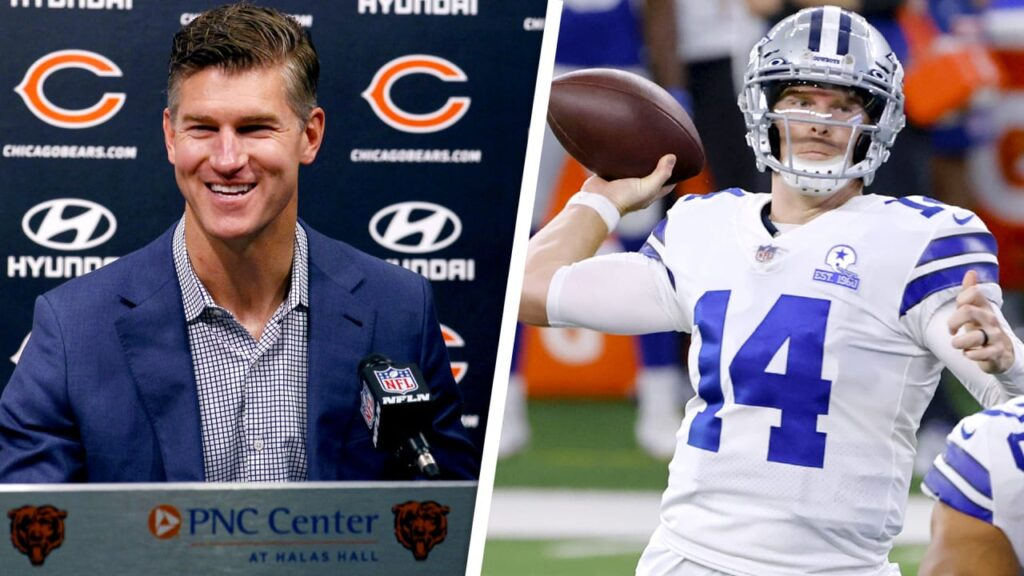 Ryan Pace lauds QB Andy Dalton's experience, fit...
