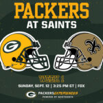 Packers open 2021 regular season at New Orleans