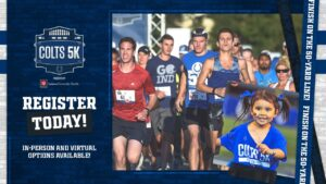 The ninth annual Colts 5K Run/Walk will be held...
