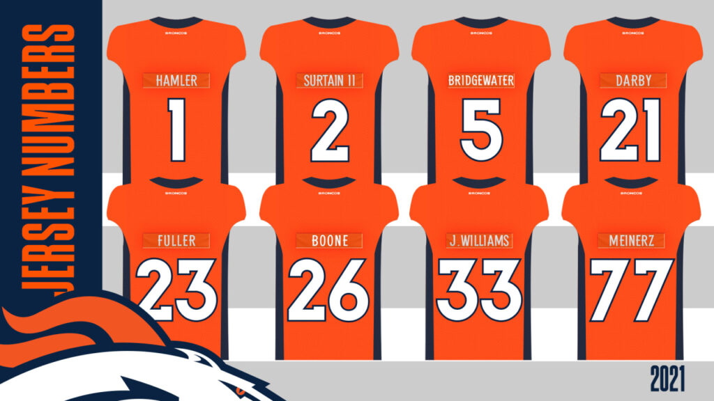 Broncos announce jersey numbers for offseason...