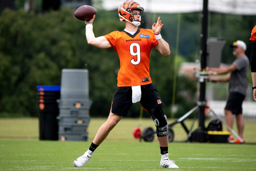 Joe Burrow anticipates being able to take first...