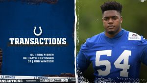 Colts' Eric Fisher Placed On PUP, Dayo Odeyingbo...