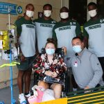 Packers visit kids at American Family Children's...