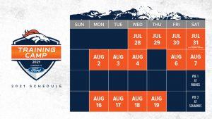 Denver Broncos 2021 Training Camp powered by Ford...