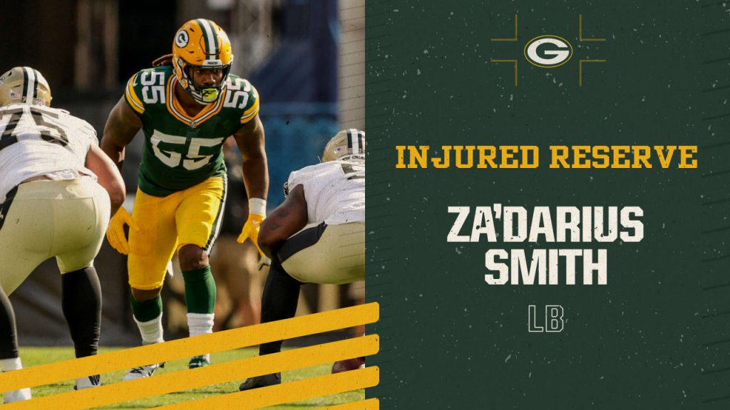 Packers place LB Za'Darius Smith on injured...