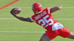 Kansas City Chiefs' Clyde Edwards-Helaire could...
